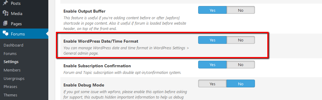 Date format – How-to and Troubleshooting – wpForo Support Forum